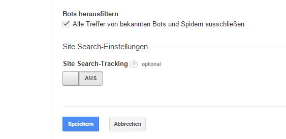Google Analytics Bots herausfiltern