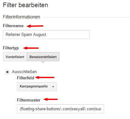 Google Analytics Filter erstellen
